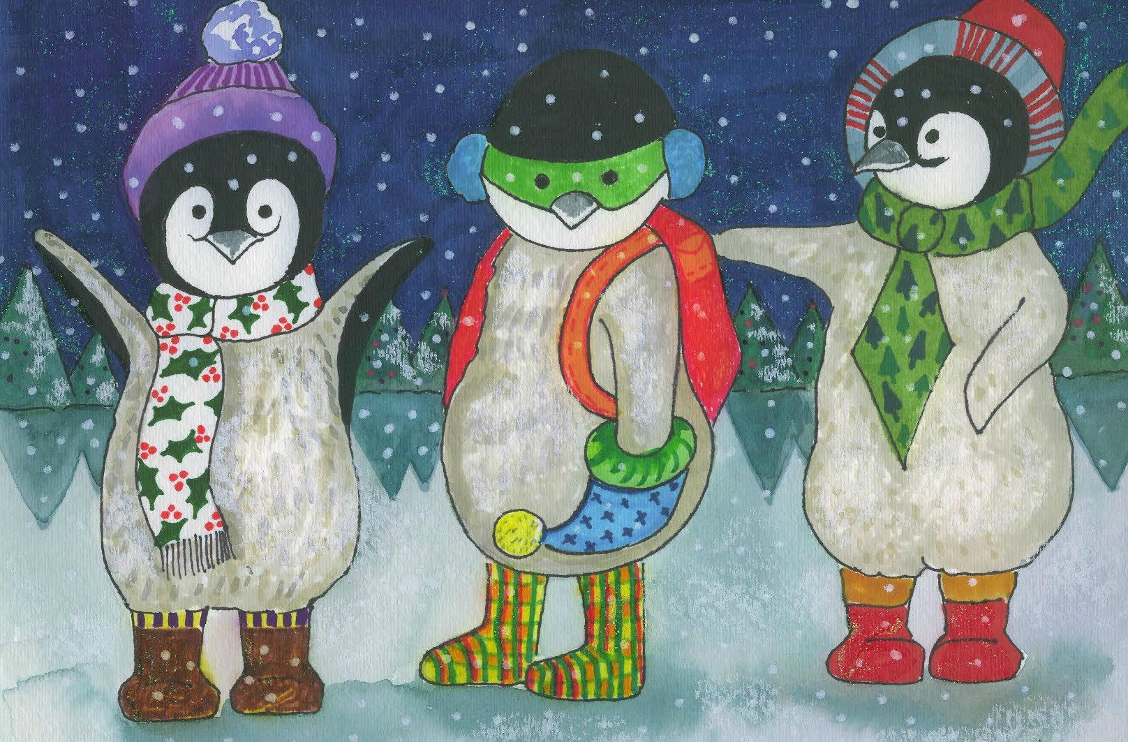Wintry penguin art project thrive for Penguin project