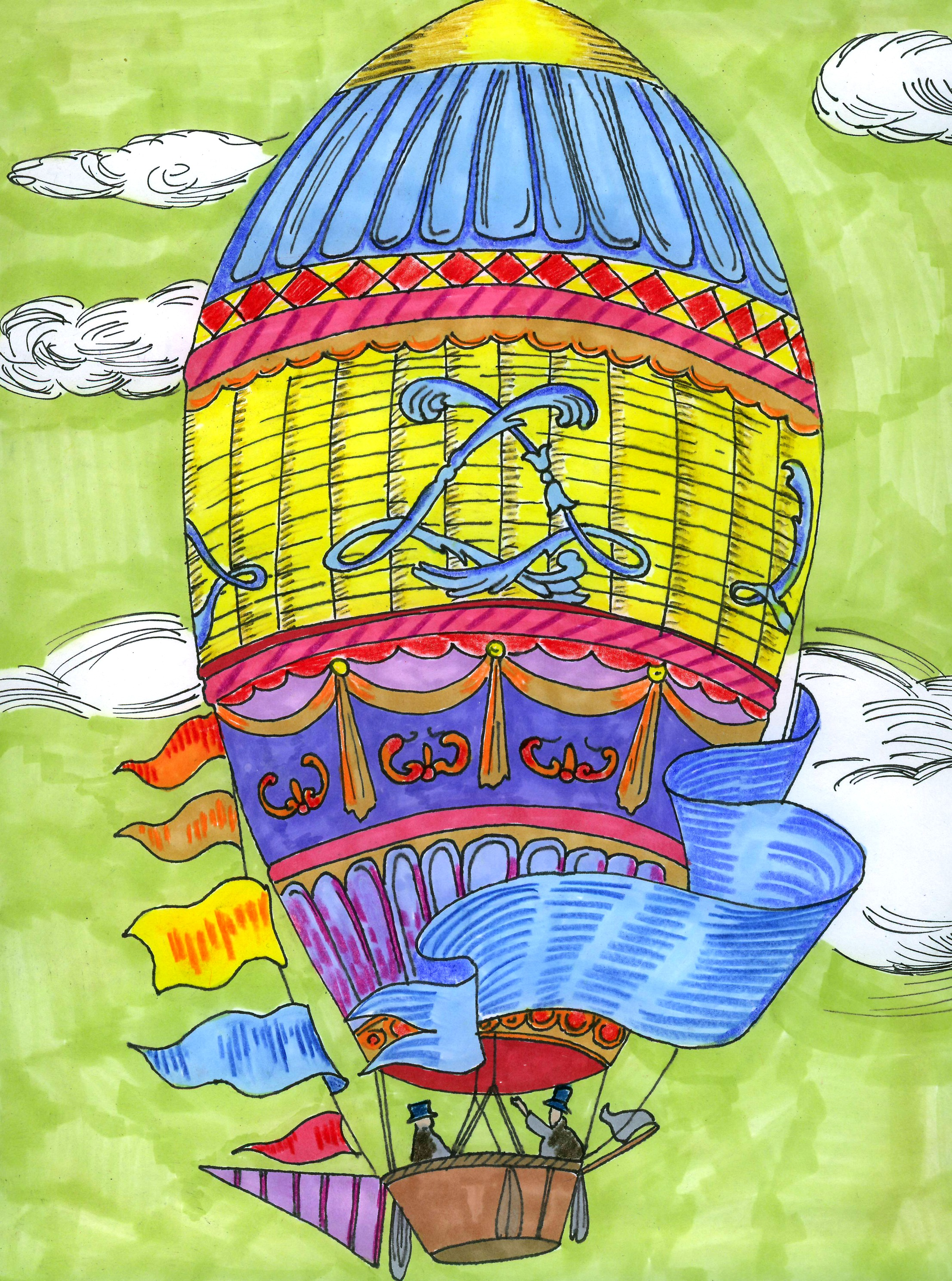 hot air balloon art project thrive